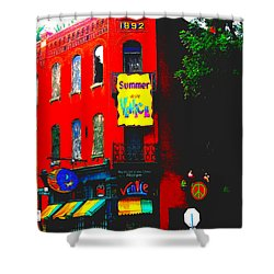 Venice Cafe' Painted And Edited Shower Curtain