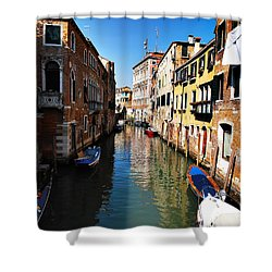 Venice Canal Shower Curtain by Bill Cannon