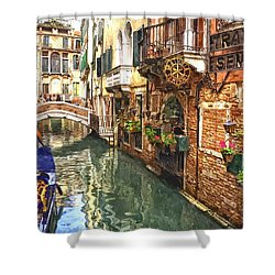 Venice Canal Serenity Shower Curtain