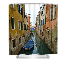 Shower Curtain featuring the photograph Venice Canal by Silvia Bruno