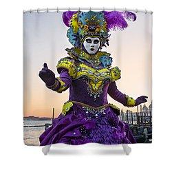 Venice Carnival Iv Shower Curtain