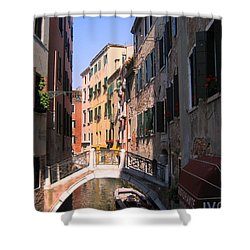 Shower Curtain featuring the photograph Venice by Dany Lison