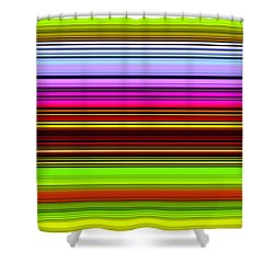 Venice Flower Abstract Shower Curtain by Chuck Staley