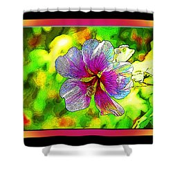 Venice Flower - Framed Shower Curtain by Chuck Staley