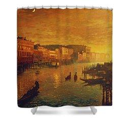 Venice From The Rialto Bridge Shower Curtain by Blue Sky