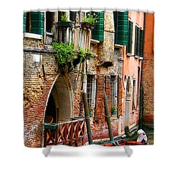 Venice Getaway Shower Curtain by Mariola Bitner