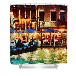Venice Glow Shower Curtain by Mo T