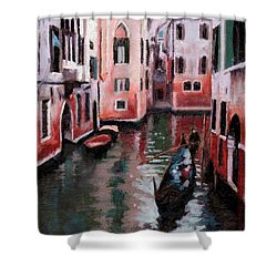 Venice Gondola Ride Shower Curtain