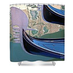 Venice Gondolas Shower Curtain by Heiko Koehrer-Wagner
