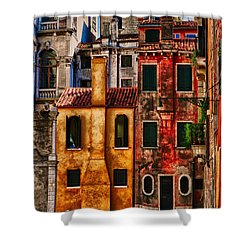 Venice Homes Shower Curtain by Jerry Fornarotto