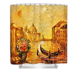 Venice II Shower Curtain by Shijun Munns