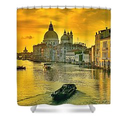 Golden Venice 3 Hdr - Italy Shower Curtain