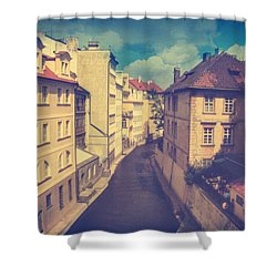 Venice In Prague Shower Curtain by Taylan Apukovska