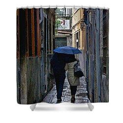 Venice In The Rain Shower Curtain