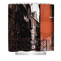 Shower Curtain featuring the photograph A Chapter In Venice by Ira Shander