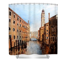 Shower Curtain featuring the painting Venice Italy by Jean Walker