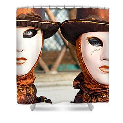 Venice Masks - Carnival. Shower Curtain by Luciano Mortula