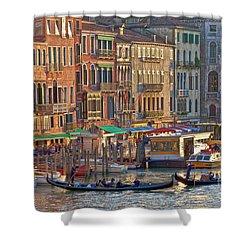 Venice Palazzi At Sundown Shower Curtain by Heiko Koehrer-Wagner