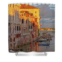 Venice Romantic Evening Shower Curtain by Heiko Koehrer-Wagner