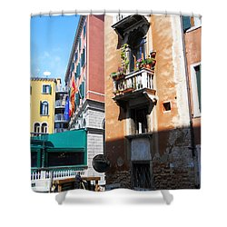 Shower Curtain featuring the photograph Venice Series 6 by Ramona Matei