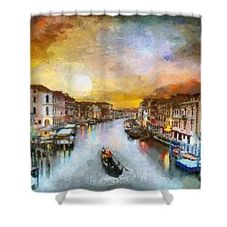 Sunrise In The Beautiful Charming Venice Shower Curtain