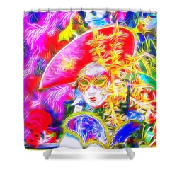 Shower Curtain featuring the photograph Venise Radiate by Jack Torcello