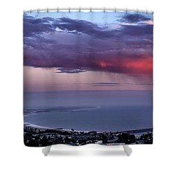 Shower Curtain featuring the photograph Ventura Beach by Michael Gordon