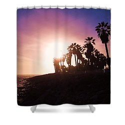 Ventura Beach Sunset Shower Curtain