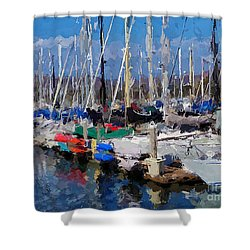 Ventura Harbor Village Shower Curtain by Andrea Auletta