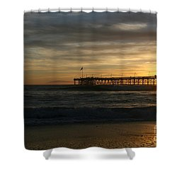 Ventura Pier 01-10-2010 Sunset  Shower Curtain