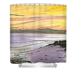 Ventura Point At Sunset Shower Curtain