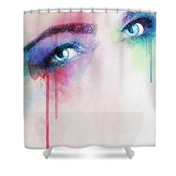 Vera Shower Curtain by Taylan Apukovska