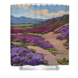 Verbena Harmony In Purple Shower Curtain by Diane McClary