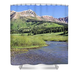 Verdant Valley Shower Curtain by Eric Glaser