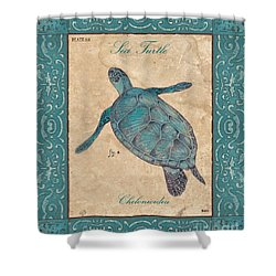 Verde Mare 4 Shower Curtain by Debbie DeWitt