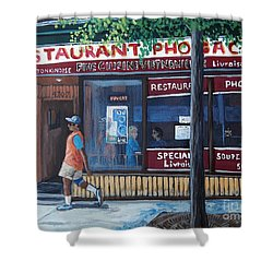Verdun Street Scene Shower Curtain