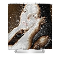 Shower Curtain featuring the photograph Verity Unmasked by Richard Thomas