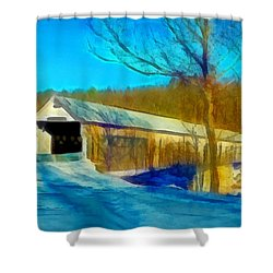 Vermont Covered Bridge Shower Curtain