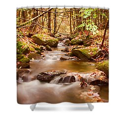 Shower Curtain featuring the photograph Vermont Stream by Jeff Folger
