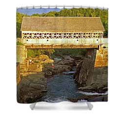 Vermont Swimming Hole Shower Curtain