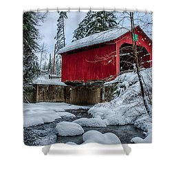 Vermonts Moseley Covered Bridge Shower Curtain