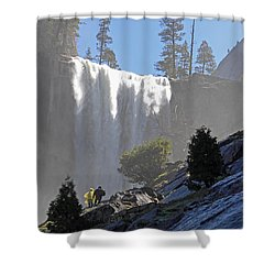 Vernal Falls Mist Trail Shower Curtain by Duncan Selby