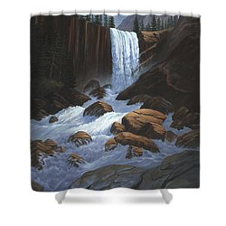 Vernal Falls Yosemite  Shower Curtain