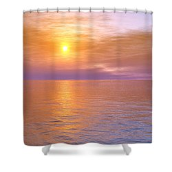 Shower Curtain featuring the digital art Verona Beach by Mark Greenberg