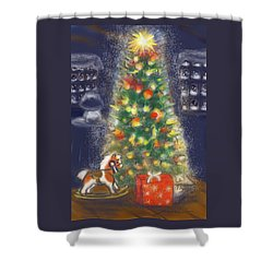 Veronicas Pony Rides Again Shower Curtain by Jean Pacheco Ravinski