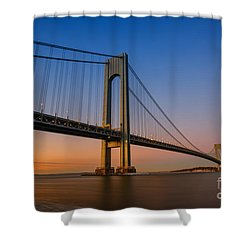Verrazano Bridge Sunrise  Shower Curtain
