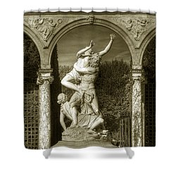 Versailles Colonnade And Sculpture Shower Curtain