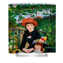 Version Of Renoir's Two Sisters On The Terrace Shower Curtain