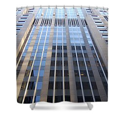 Vertical Chicago By Jammer Shower Curtain by First Star Art