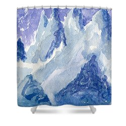 Vertical Horizons Shower Curtain